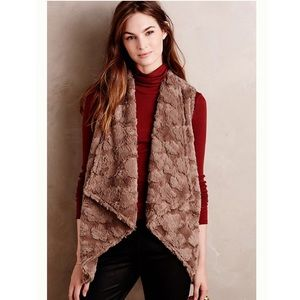 Anthropologie Elevenses Pelage Faux Fur Vest
